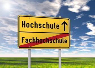 """Ortsschild """"Hochschule / Fachhochschule"""""""