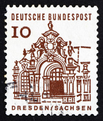 Postage stamp Germany 1965 Wall Pavilion, Zwinger, Dresden