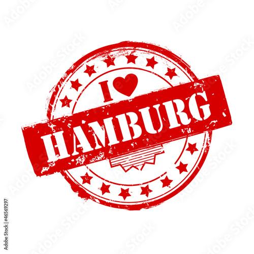 aufkleber i love hamburg stempel fototapeten aufkleber. Black Bedroom Furniture Sets. Home Design Ideas