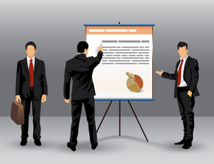 Businessman presentation illustration