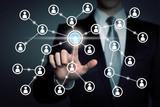 social network touchscreen - connectivity
