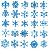 Snowflakes Set - 25 Illustrations - 46571044
