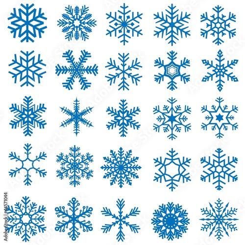 Zestaw płatków śniegu - 25 ilustracji