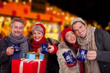gruppe weihnachtsmarkt