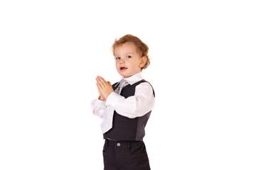 Kind , Anzug, Gebet