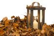 Laterne im Herbstlaub
