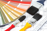 tools for home renovation onarchitectural drawing