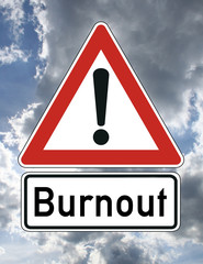 Burnout Stress Schild  #121107-007