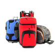 Sport hiking backpacks on a white background