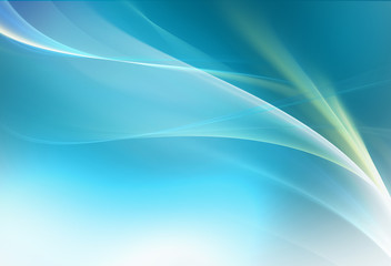 Elegant blue fractal background