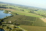 Areal view on Dutch landscape