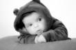 Bebé vestida osito