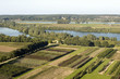 Areal view on the river Nederrijn in the Netherlands