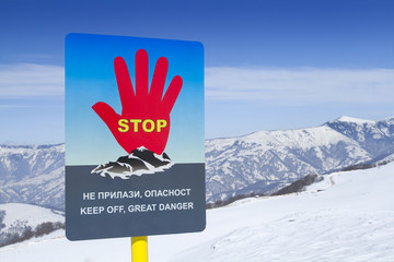 Avalanches sign warning