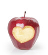 heart ,red apple