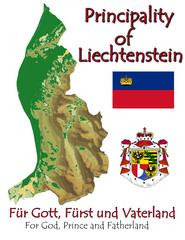 Liechtenstein Europe national emblem map symbol motto