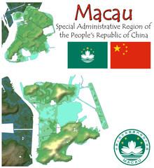 Macau Asia national emblem map symbol motto