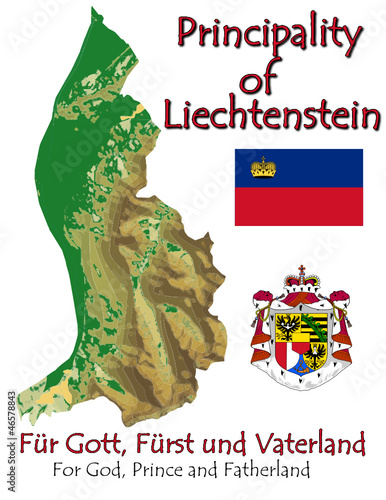 Liechtenstein Europe national emblem map symbol motto
