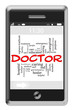 Doctor Word Cloud Concept on Touchscreen Phone