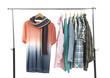 closeup of men's clothes shirts hanging