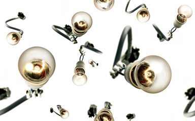 Jazzy Light Bulbs Lively Seamless Background
