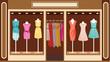 Boutique. Women's clothing shop - 46581432