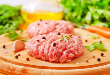 Raw meat balls with aroma spice