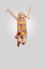 happy kid jumping