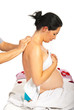 Pregnant receiving back massage