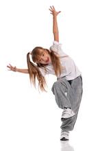 éclairé fille qui danse