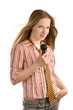 Young girl-singer
