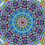 Kaleidoscopic colorful abstract pattern.