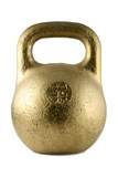 Soviet golden rusty kettlebell