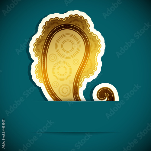 Paisley background. Design element inserted into a slot.