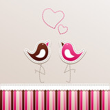 Fototapete Erdbeere - Flickwerk - Hintergrund