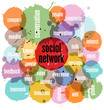 social network concept, vector illustration, with splashes