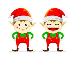 Christmas Elf twins