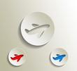 travel icon, vector