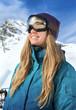 Beautiful woman at ski resort