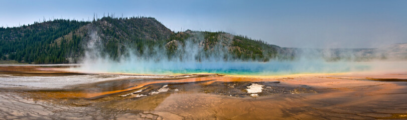 Grand Prismatic spring, panorma - Parc de Yellowstone, USA
