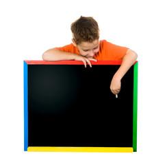 little boy on a board