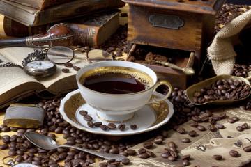 Kaffe Schwarz Romantisch