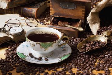 Kaffe Schwarz Nostalgie