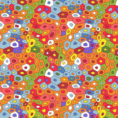 Colorful abstract mosaic seamless pattern, vector