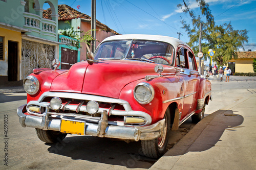 Keuken foto achterwand Cubaanse oldtimers Classic Chevrolet in Trinidad, Cuba