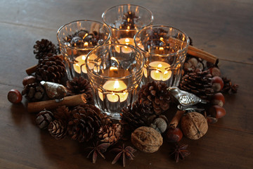 Tischdeko im Advent