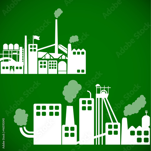 Ecology background - industrial concept