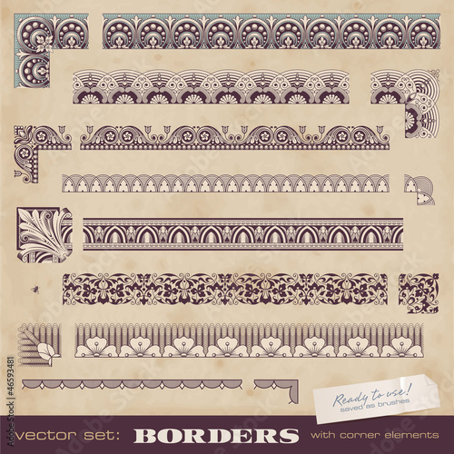 set of borders/frames for certificates or similar documents
