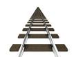 3d Railway tracks perspective