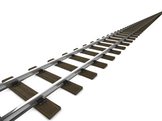 3d Train tracks side view